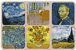 Van Gough Painting Set of Six Vintage Style Coasters Drinks Holder Mat